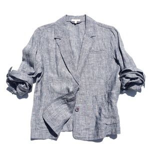 EILEEN FISHER linen blazer